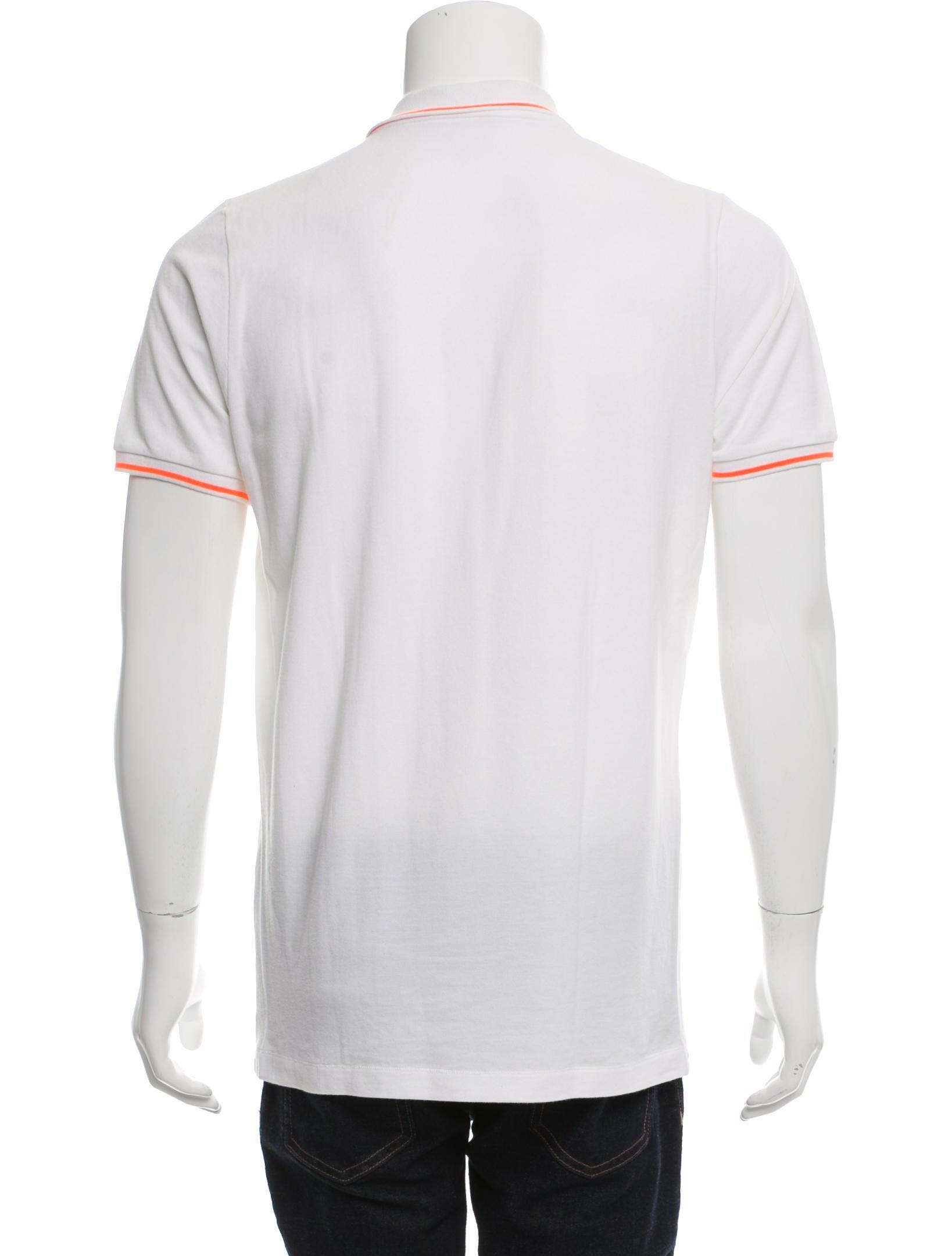 Tomas maier logo embroidered polo shirt clothing for Shirt with logo embroidered