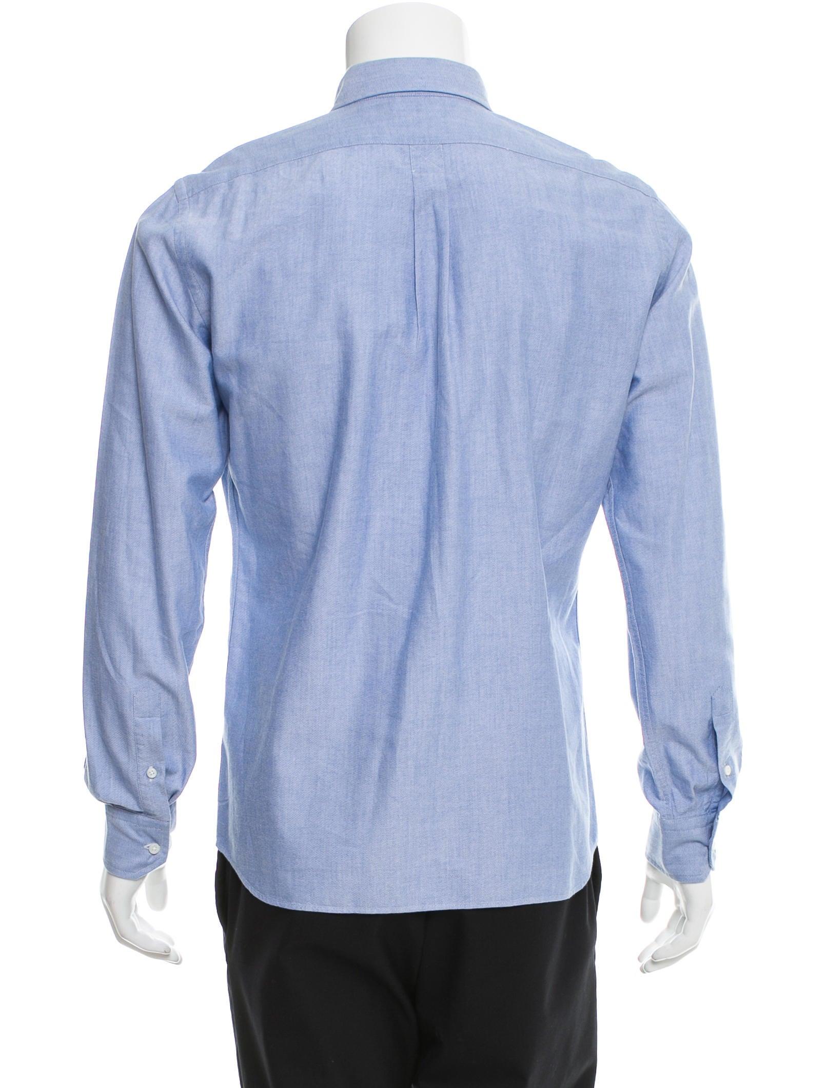 Tomas Maier Long Sleeve Button Up Shirt Clothing