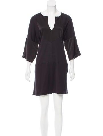 Tomas Maier V-Neck Mini Dress w/ Tags None