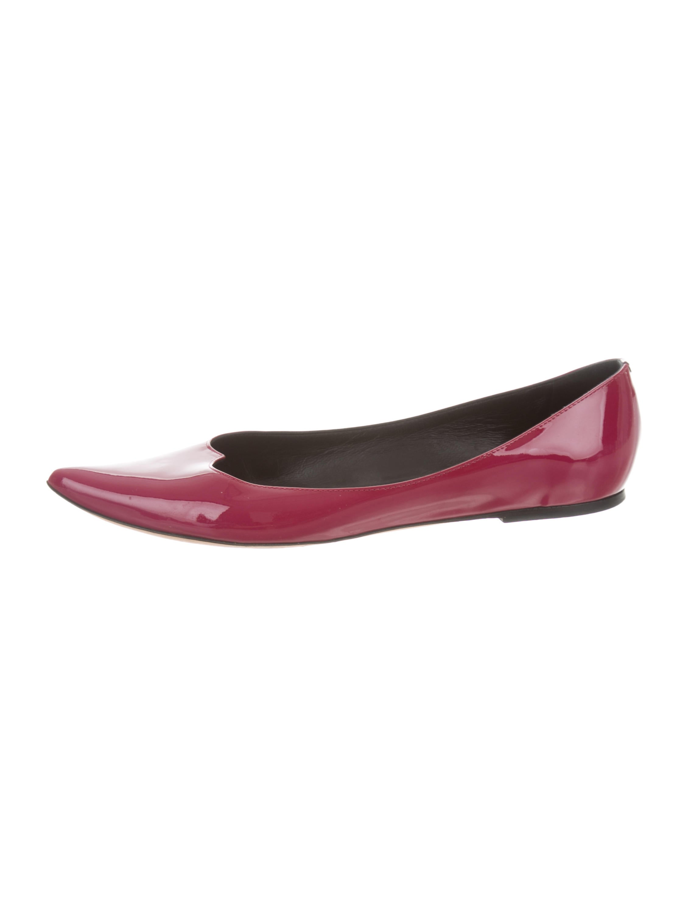 clearance shop Tomas Maier Patent Leather Pointed-Toe Flats clearance fast delivery sale big sale sale finishline VHmmG