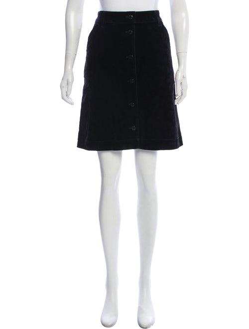 Tomas Maier Leopard Print Velvet Skirt Black