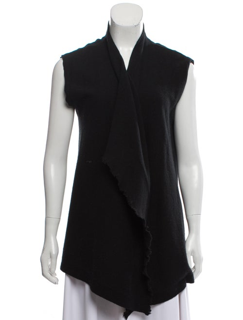 Tomas Maier Cashmere Sleeveless Cardigan Black