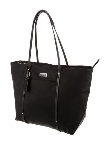 Leather-Trimmed Shoulder Bag