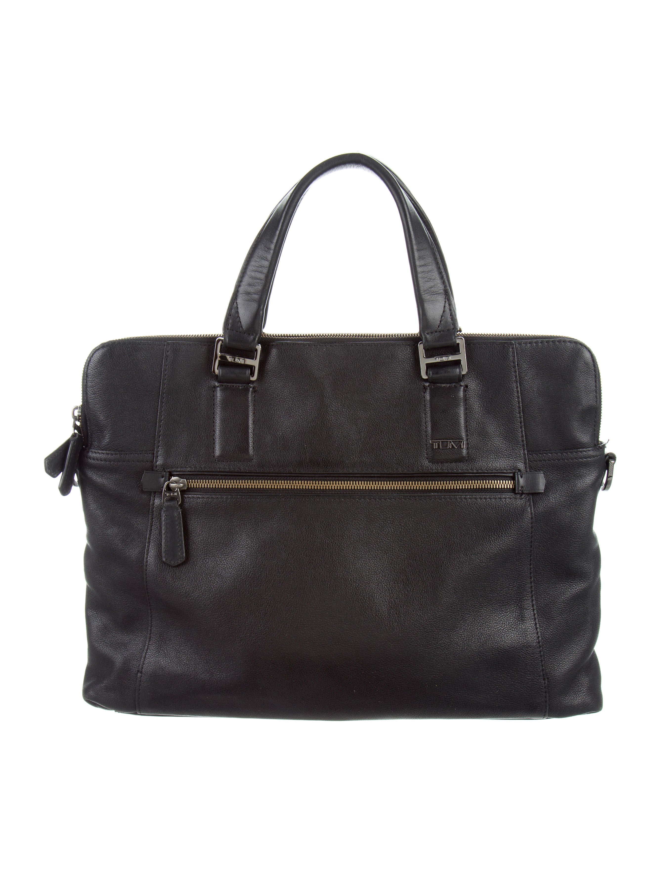 Tumi Grained Leather Briefcase Bags TMI21626 The  : TMI216261enlarged from www.therealreal.com size 2675 x 3529 jpeg 739kB