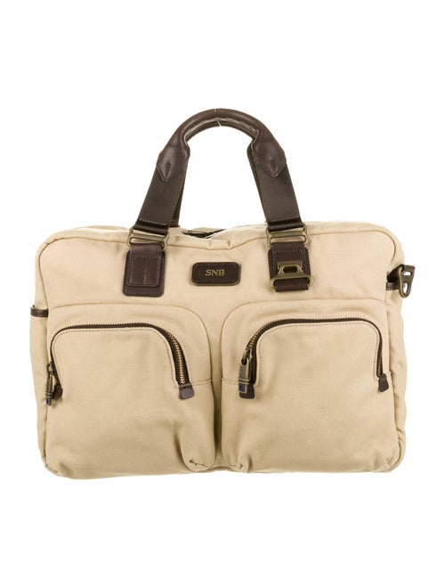Tumi Canvas Duffel Bag Tan
