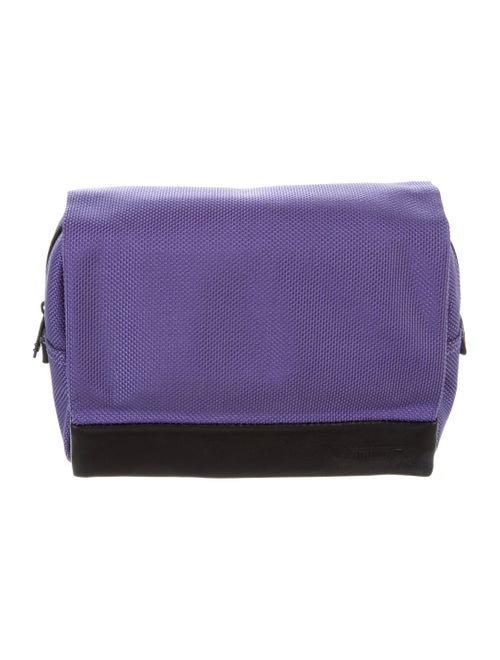 Tumi Leather-Trimmed Cosmetic Bag Violet