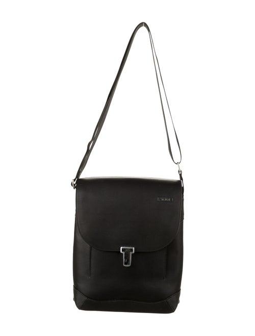 Tumi Leather Shoulder Bag Black