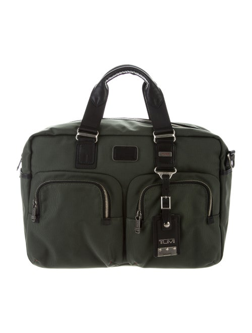 Tumi Leather-Trimmed Nylon Weekender Bag Green