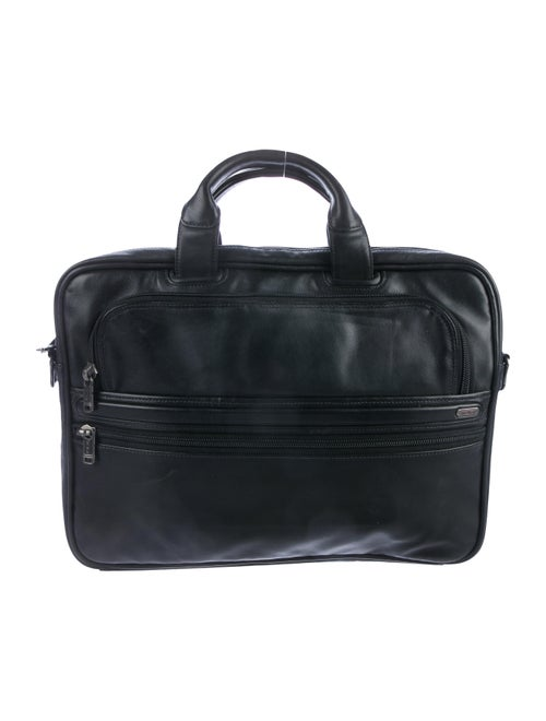 Tumi Leather Laptop Bag black