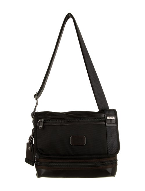 Tumi Tumi Leather-Trimmed Messenger Bag Brown