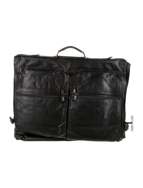 Tumi Leather Garment Bag Black