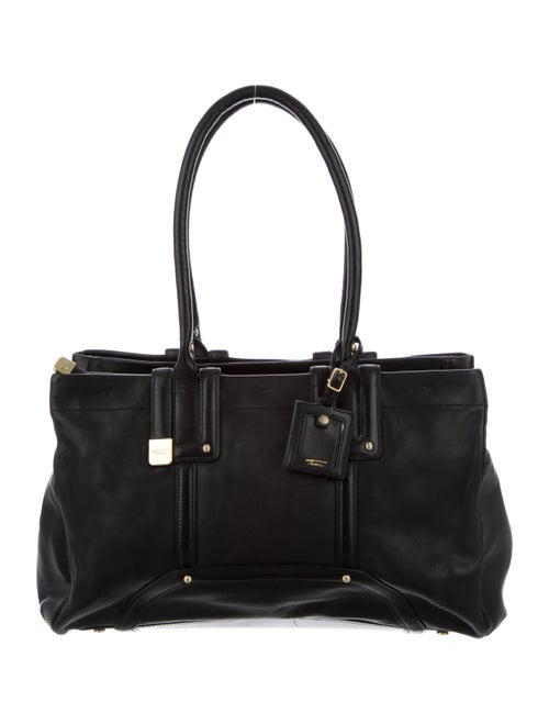 Tumi Leather Tote Bag Black
