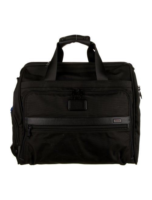 Tumi Leather-Trimmed Carry-On Bag Black