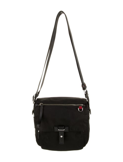 Tumi Leather Trim Crossbody Bag Black