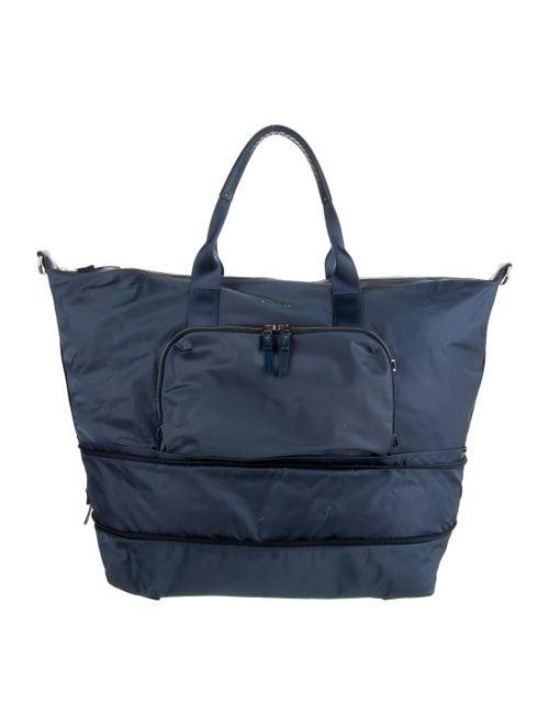 Tumi Leather-Trimmed Duffel Bag Blue