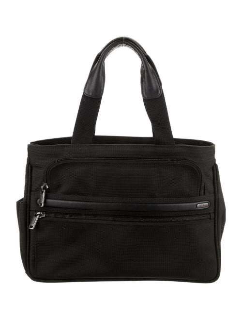Tumi Canvas Shoulder Bag Black