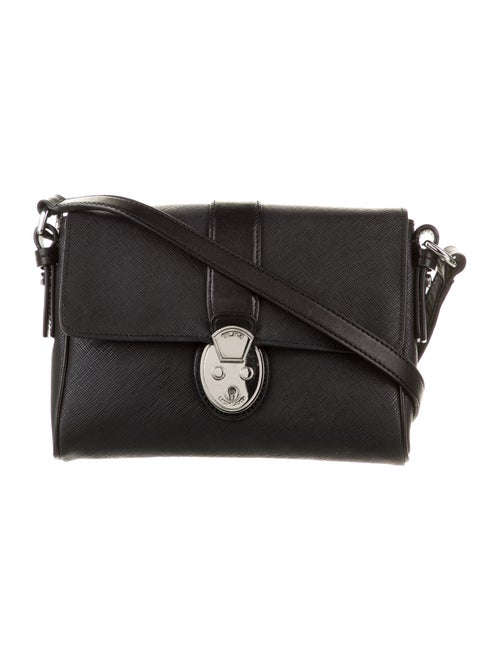 Tumi Leather Crossbody Bag Black