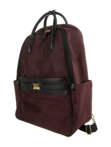 Tumi Leather Trimmed Nylon Backpack