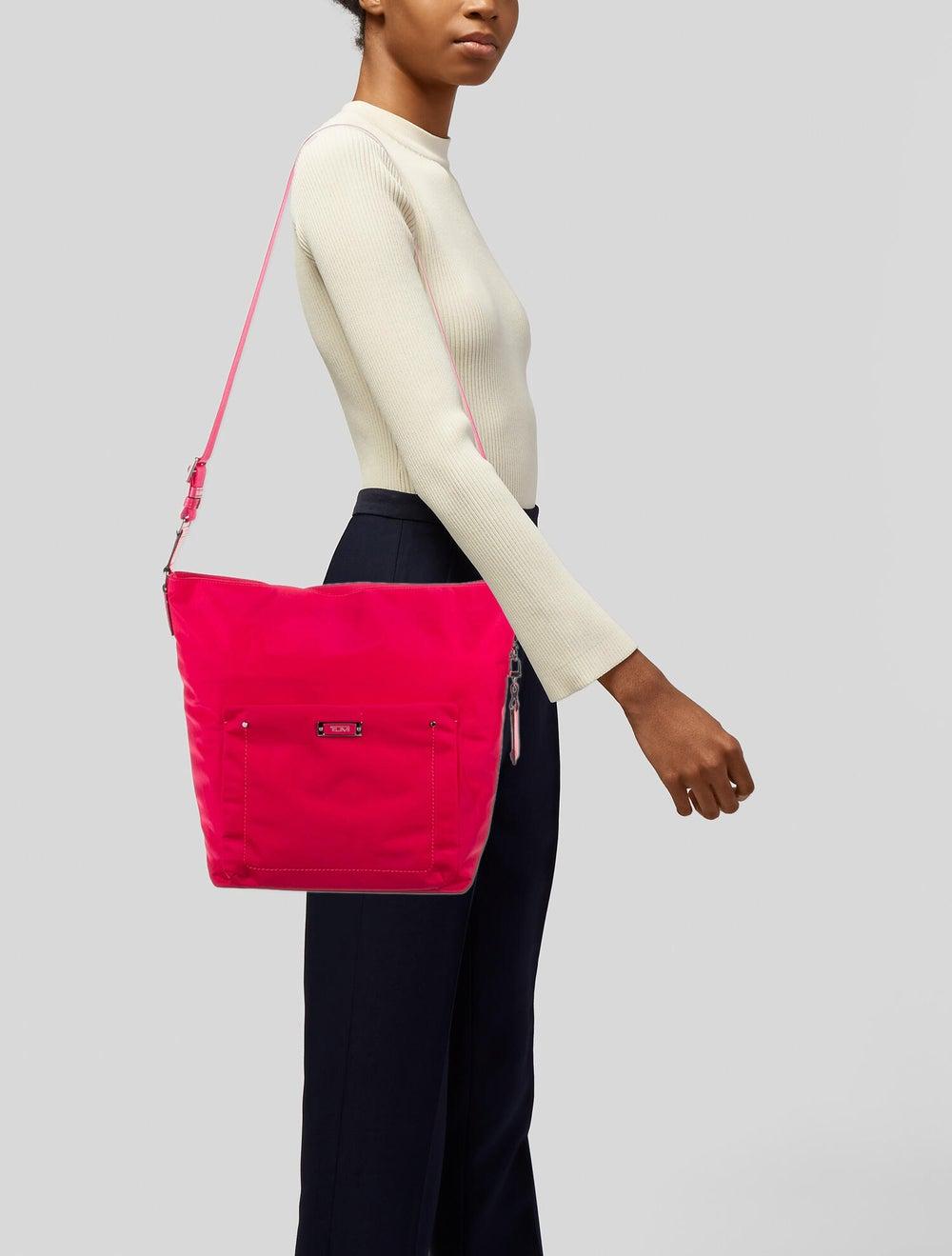 Tumi Nylon Shoulder Bag Pink - image 2