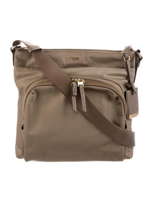 Tumi Nylon SHoulder Bag Gold