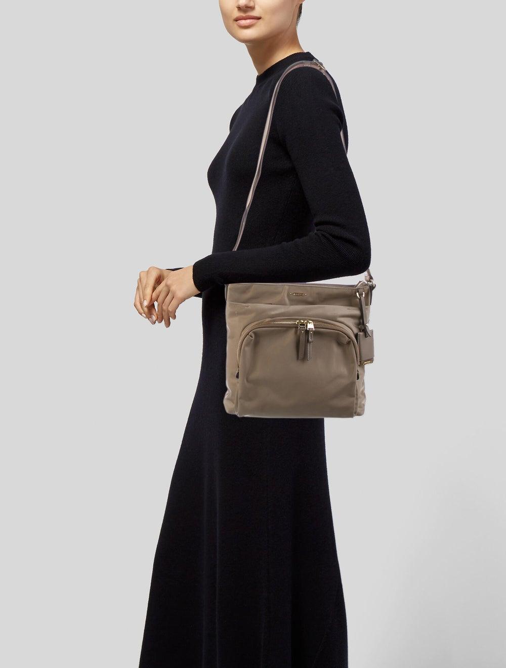 Tumi Nylon SHoulder Bag Gold - image 2