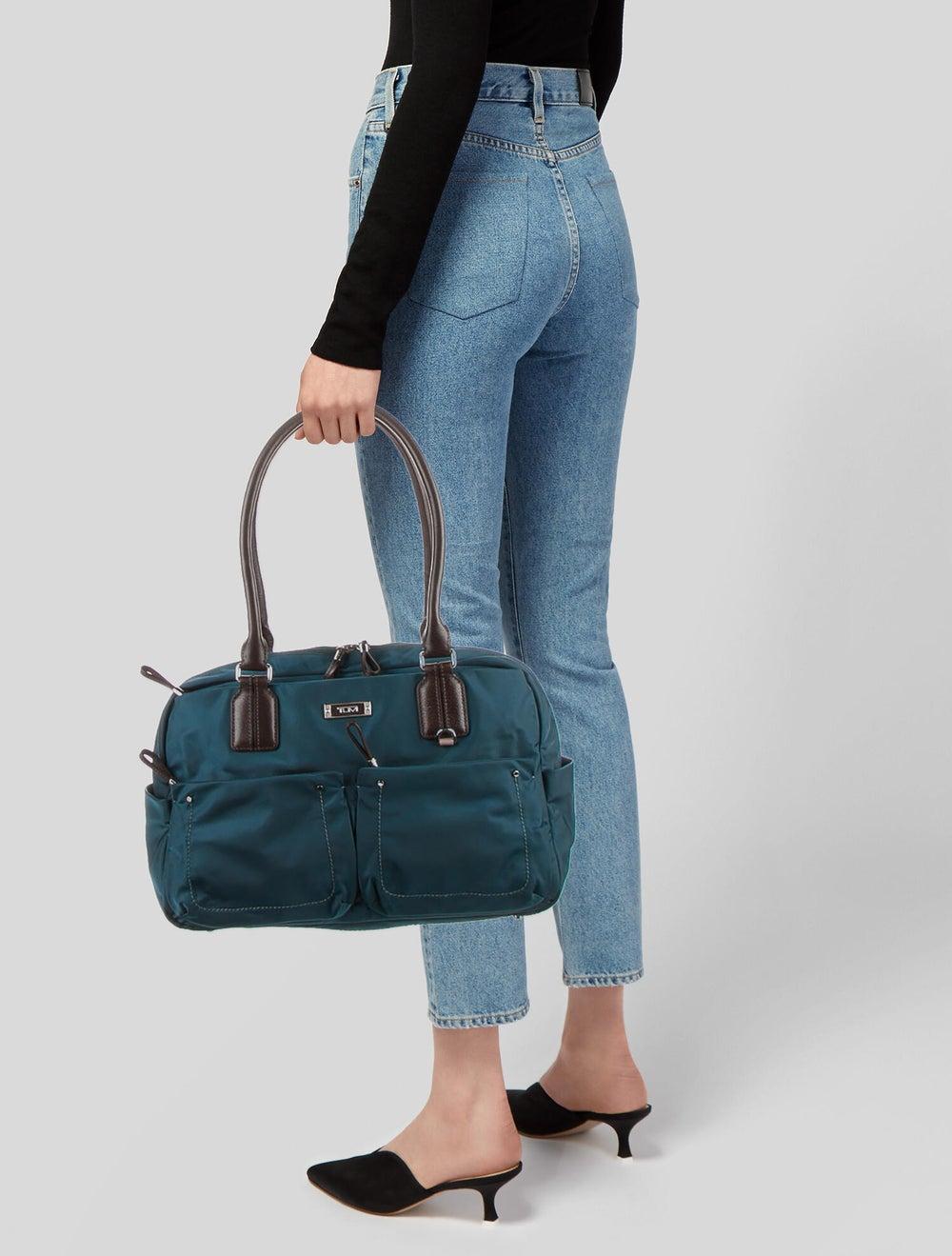 Tumi Nylon Shoulder Bag Blue - image 2