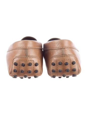 Leather Round-Toe Loafers