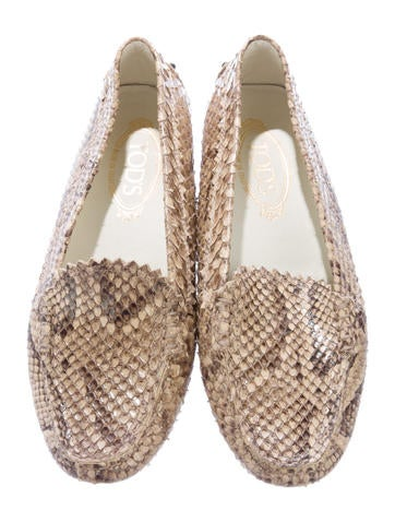 Snakeskin Driving Loafers