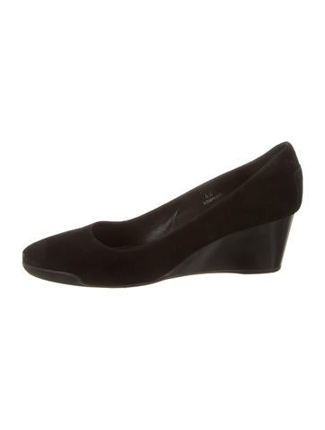 Tod's Suede Round-Toe Wedges None