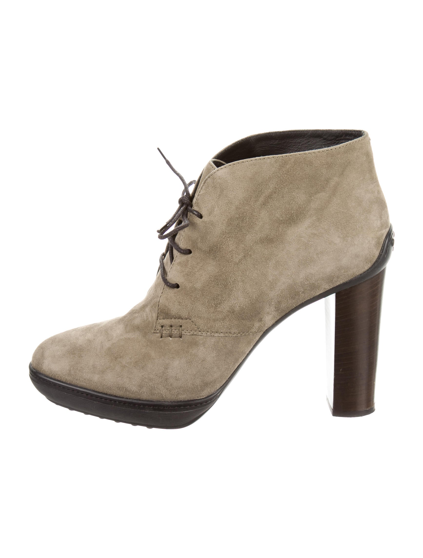 tod s suede ankle boots shoes tod34562 the realreal