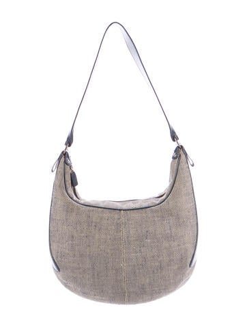 Tod's Leather-Trimmed Canvas Hobo