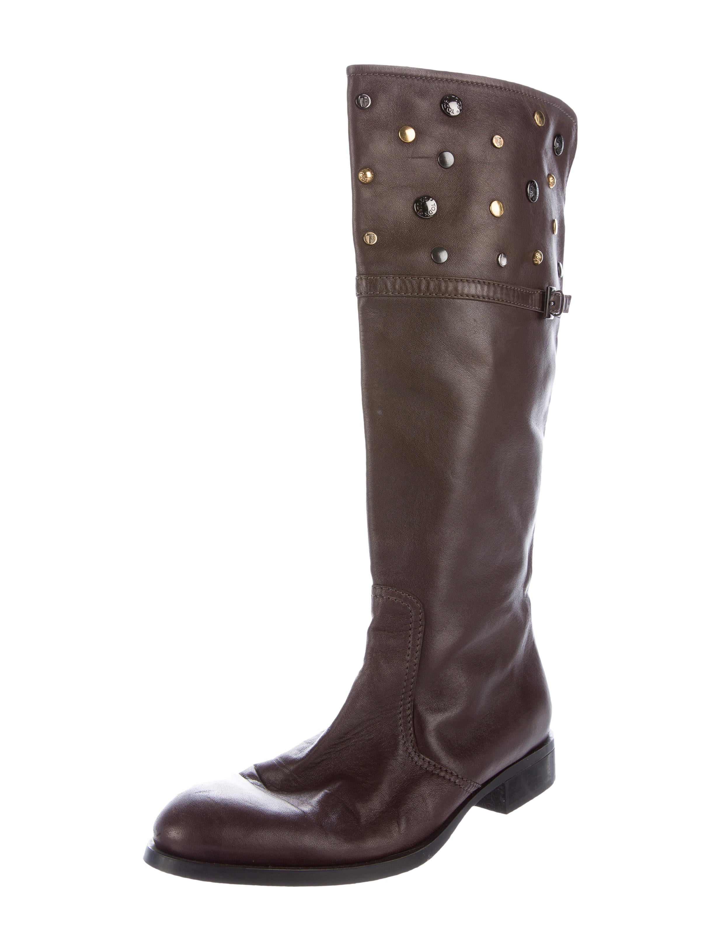 tod s studded knee high boots shoes tod34657 the