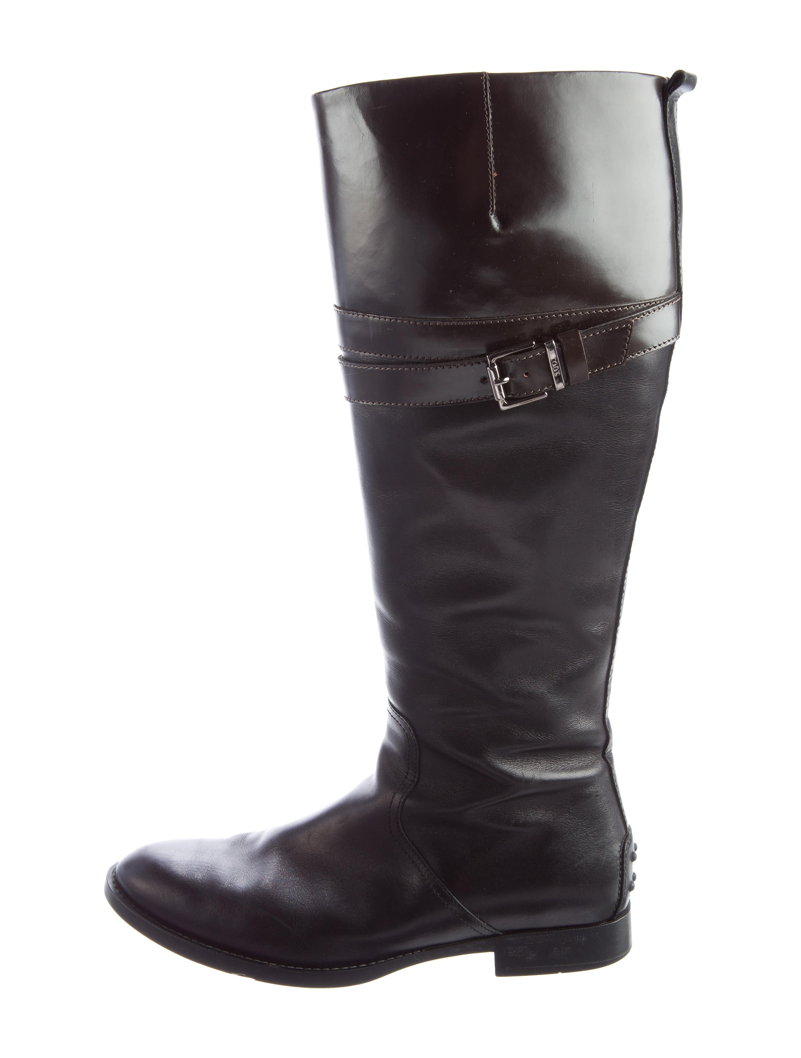 tod s buckle accented knee high boots shoes tod34730