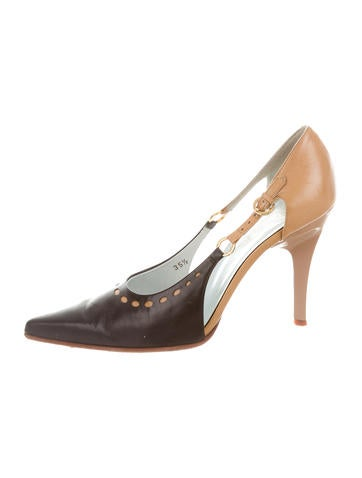 Tod's Leather Pointed-Toe Pumps None