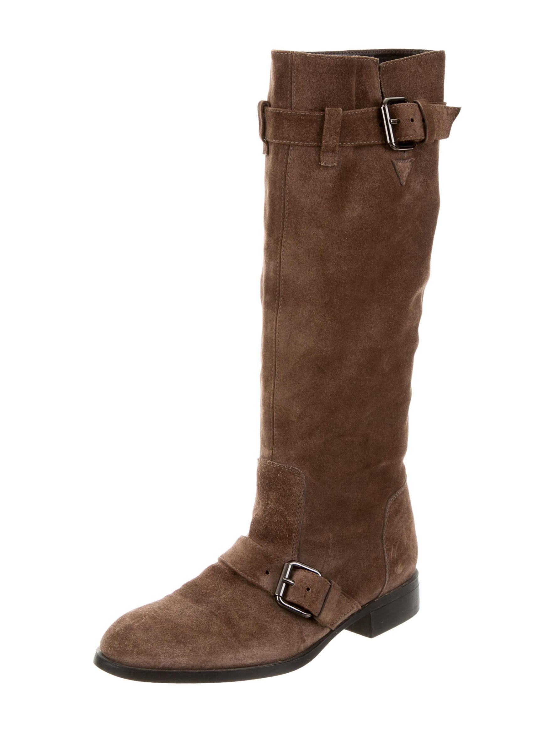 tod s suede knee high boots shoes tod35172 the realreal