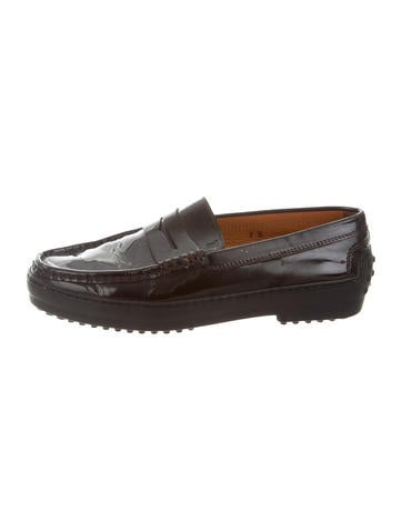 Tod's Patent Round-Toe Loafers