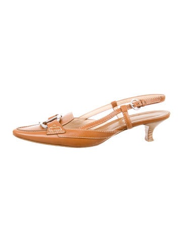 Tod's Leather Slingback Pumps