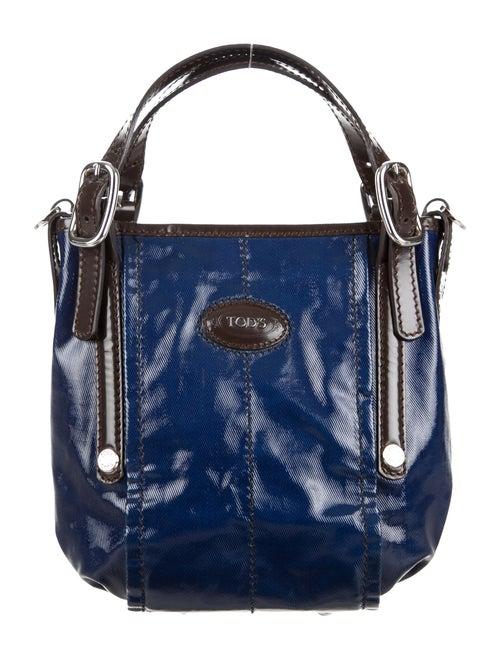 cf0c58b375eed Tod's Coated Canvas Satchel - Handbags - TOD37197   The RealReal