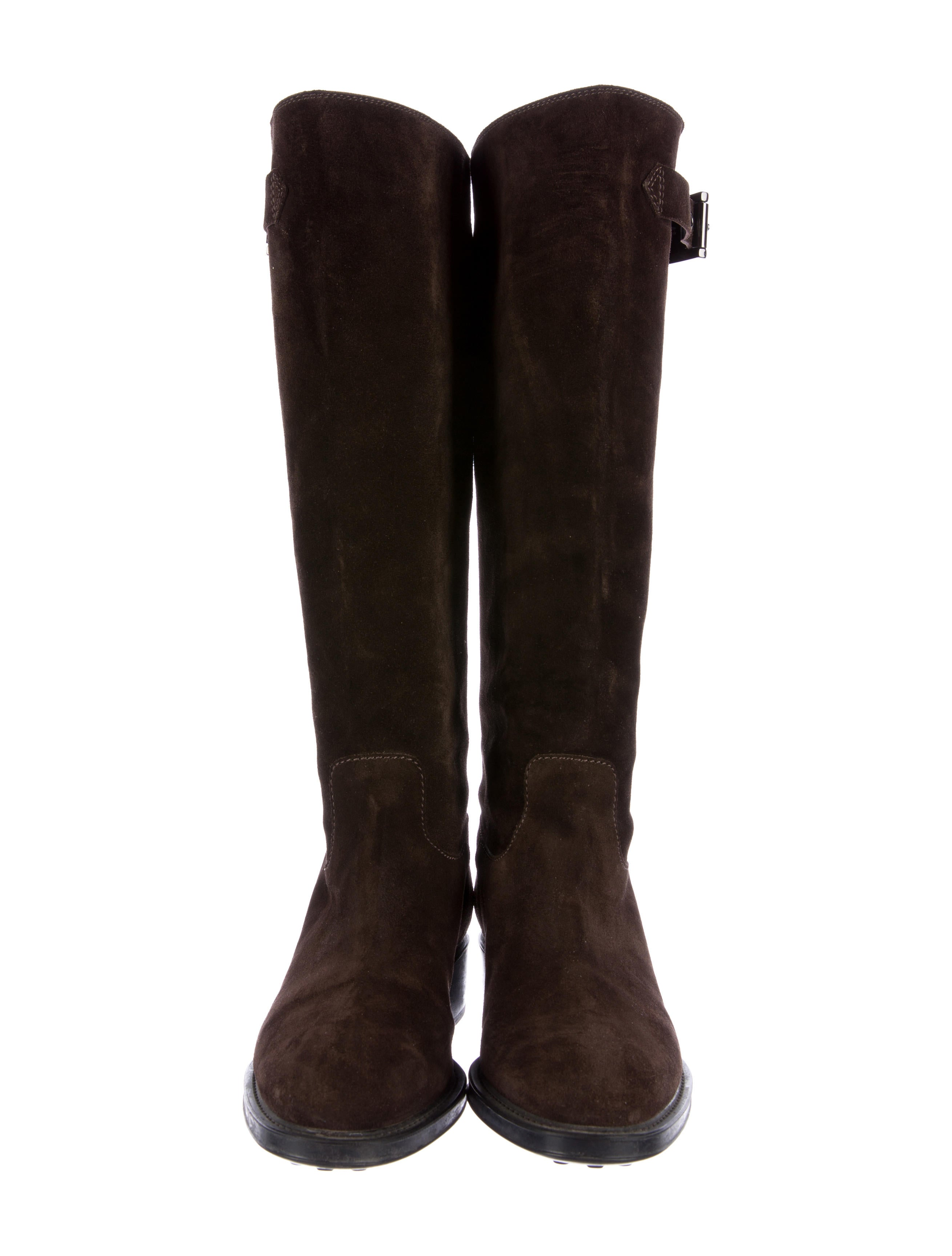 tod s suede knee high boots shoes tod37621 the realreal