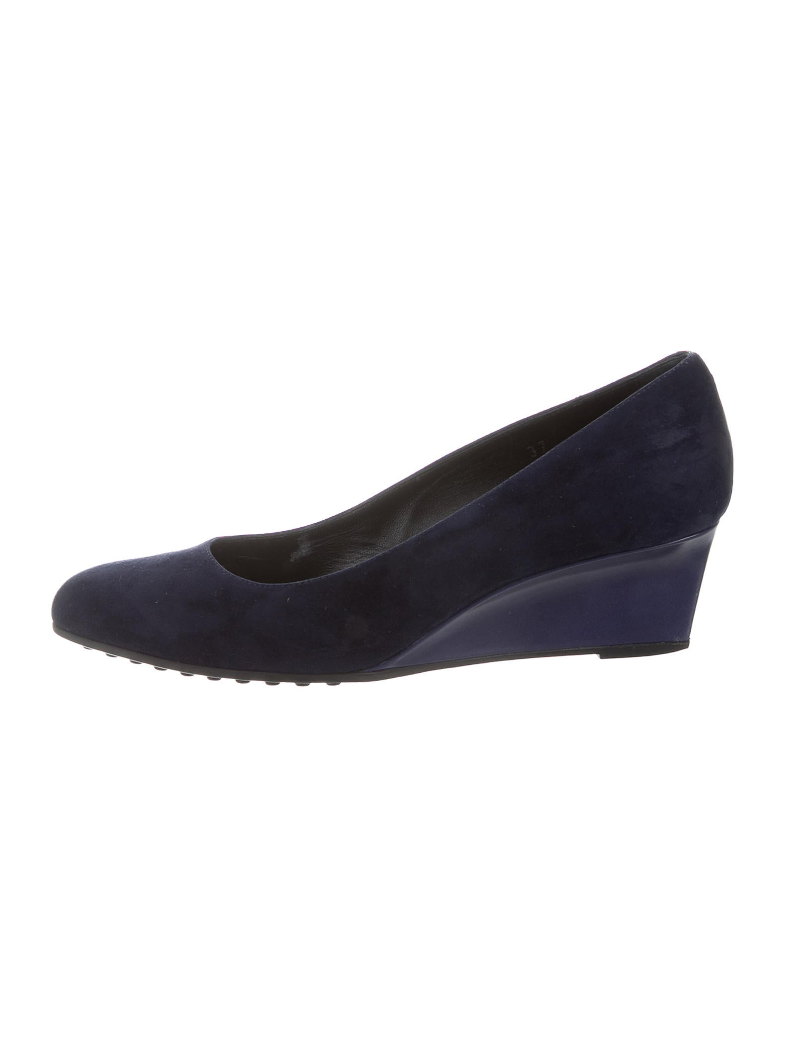 tod s suede semi pointed toe wedges shoes tod37826