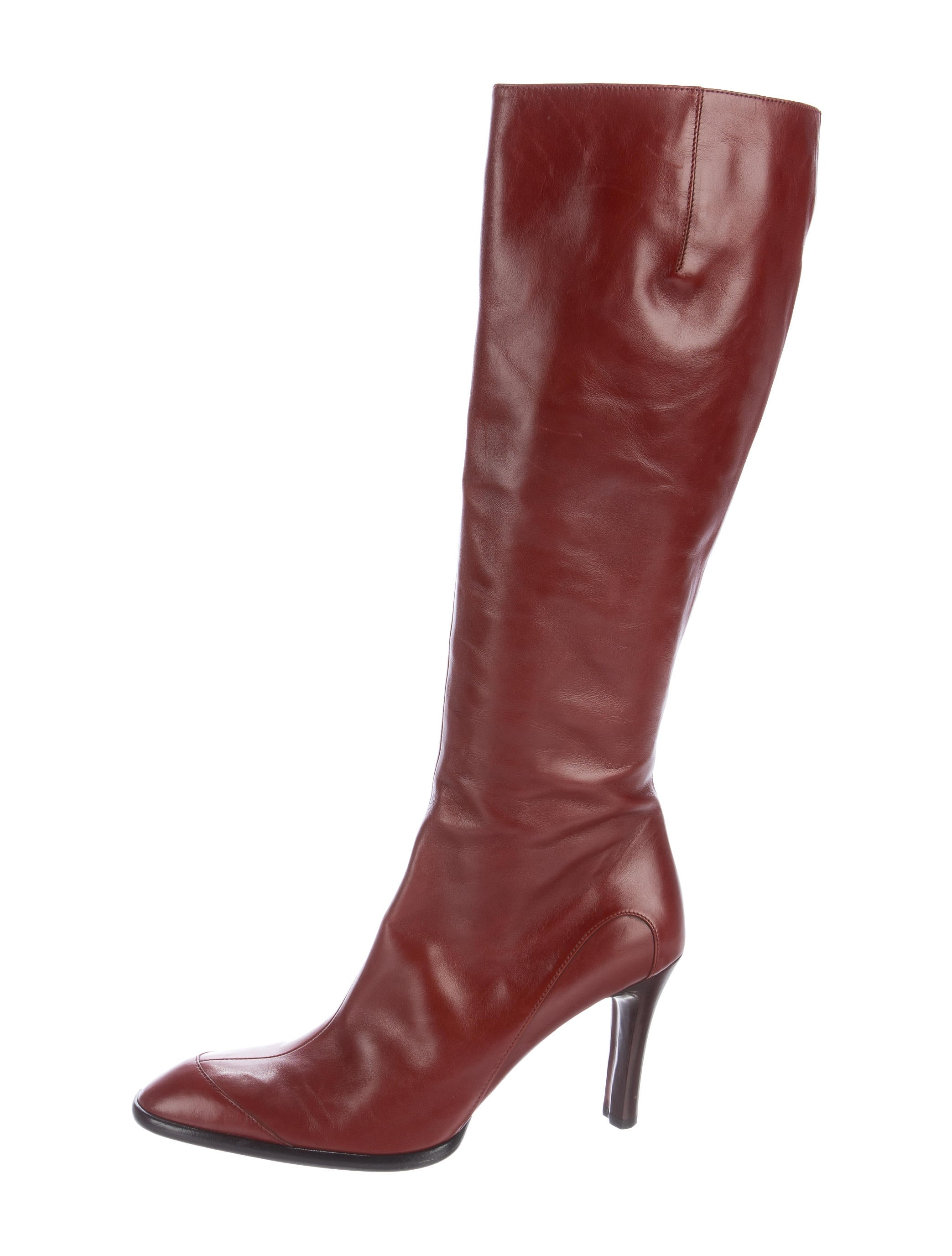 tod s leather pointed toe knee high boots shoes