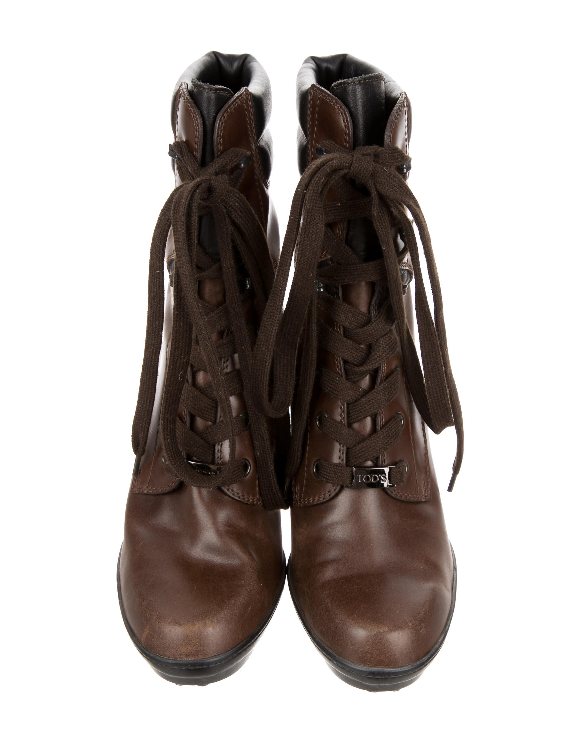 tod s leather lace up ankle boots shoes tod38932 the