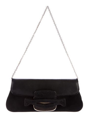 Tod's Karung-Trimmed Shoulder Bag None