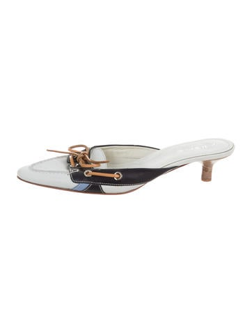 Tod's Bow-Embellished Leather Mules None