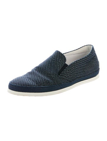 tod s canvas slip on sneakers shoes tod40543 the