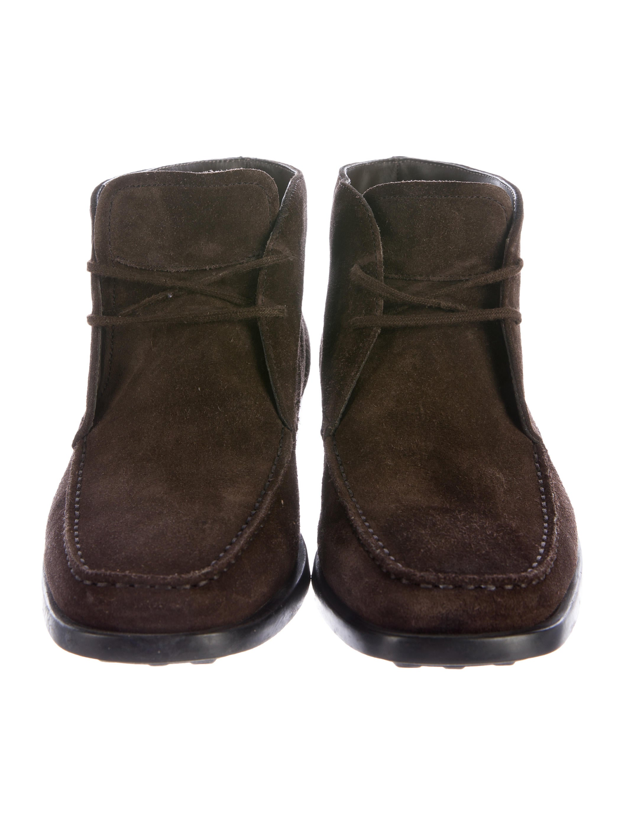 tod s suede desert boot shoes tod41092 the realreal
