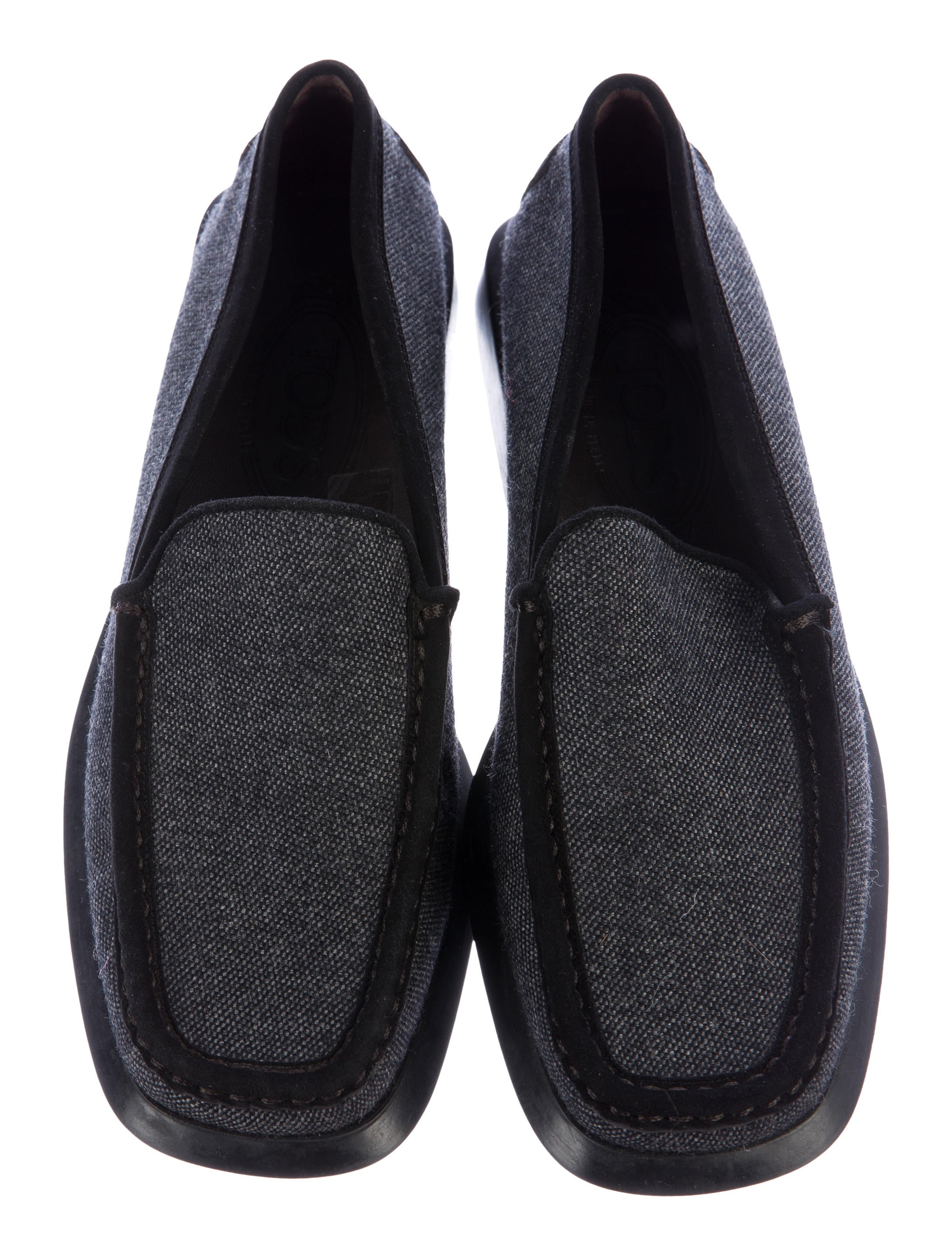 tod s canvas square toe loafers shoes tod41314 the