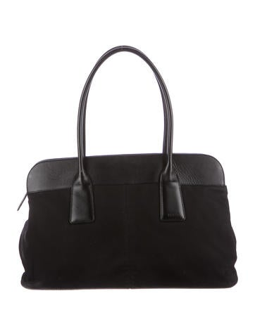 Tod's Leather-Trimmed Tote None