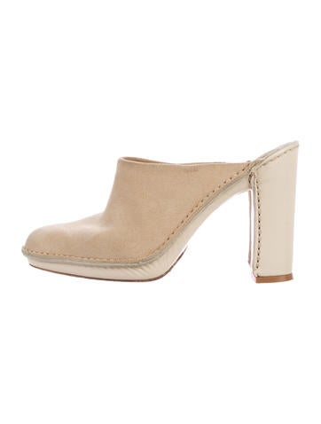 Tod's Suede Pointed-Toe Mules None