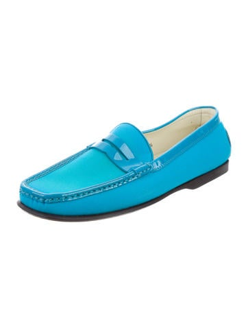 tod s canvas square toe loafers shoes tod42136 the